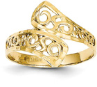 Diamond-Cut Lace Ring in 14K Yellow Gold