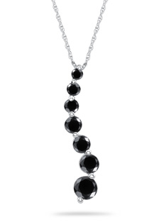 Buy 1 Carat Black Diamond Journey Pendant