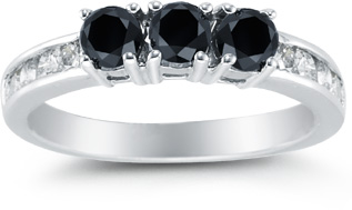 Buy 1 Carat Black and White Diamond Ring
