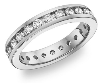 Diamond Eternity Band (2 Carats), 14K White Gold (Apples of Gold)