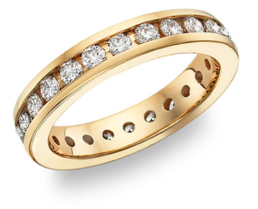 Buy Diamond Eternity Band (1.54 Carats), 14K Yellow Gold