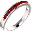 Eleven-Stone Ruby Band in 14K White Gold