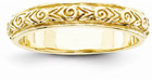 Floral Design 14K Yellow Gold Wedding Band