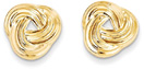 Flush Love Knot Earrings in 14K Gold