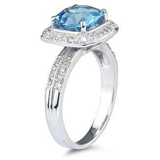 gemstone blue topaz ring