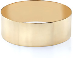 14K Gold Flat Bangle Bracelet, 25mm (1