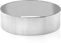 14K White Gold Flat Bangle Bracelet, 22mm (7/8