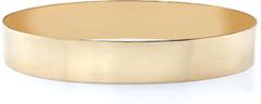 14K Gold Flat Bangle Bracelet, 12mm (1/2
