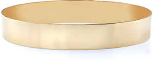 14K Gold Flat Bangle Bracelet, 12mm (1/2