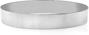 14K White Gold Flat Bangle Bracelet, 12mm (1/2