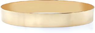 14K Gold Flat Bangle Bracelet, 11mm (7/16
