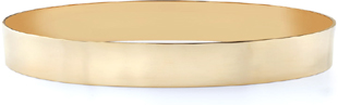 14K Gold Flat Bangle Bracelet, 10mm (3/8
