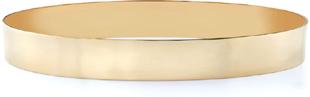 14K Gold Flat Bangle Bracelet, 10mm (3/8