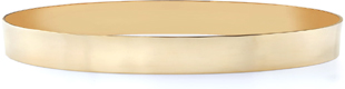 14K Gold Flat Bangle Bracelet, 8mm (5/16