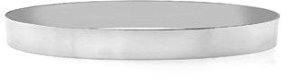 14K White Gold Flat Bangle Bracelet, 8mm (5/16