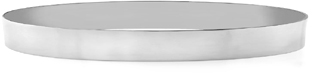 14K White Gold Flat Bangle Bracelet, 7mm (1/4