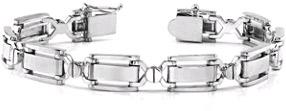 Designer 14K White Gold Men's Bracelet