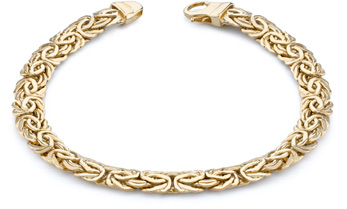 Byzantine Bracelet, 14K Yellow Gold (7.5mm)