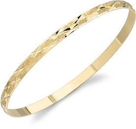 Buy Staggered Star Design Bangle Bracelet, 14K Gold