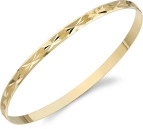 Buy Star Design Bangle Bracelet, 14K Gold