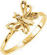 Butterfly Ring with Diamond