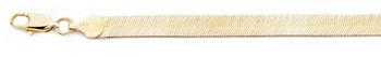 6.5mm Herringbone Bracelet, 14K Gold