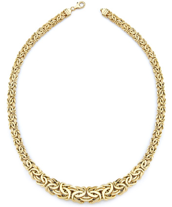 Byzanite Necklace, 14K Yellow Gold