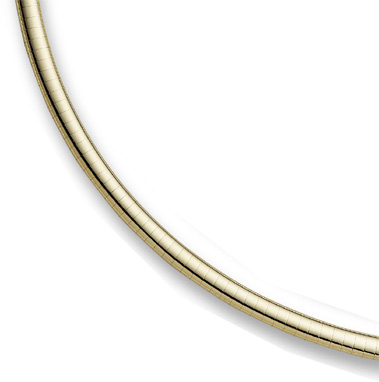 14K Yellow Gold 6mm Omega Necklace