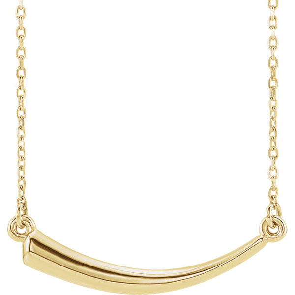 14K Gold Horn Necklace