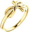 Infinity Cross Ring, 14K Gold