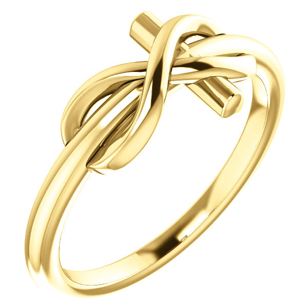 Infinity Cross Ring, 14K Gold