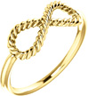 Infinity Rope Design Ring, 14K Yellow Gold
