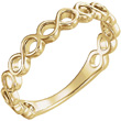 Infinity Symbol Band in 14K Yellow Gold
