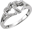 Intertwined Heart Ring in Sterling Silver