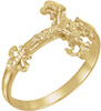 Ladies Nugget Crucifix Ring, 14K Gold