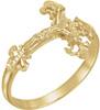 Ladies Nugget Crucifix Ring, 14K Gold