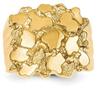Large 14K Yellow Gold Nugget Ring for Men