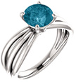 London Blue Topaz Tri-Band Ring in Sterling Silver