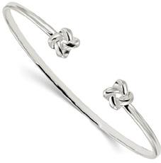 Love Knot Cuff Bracelet in Silver