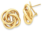 Love Knot Tube Earrings in 14K Gold