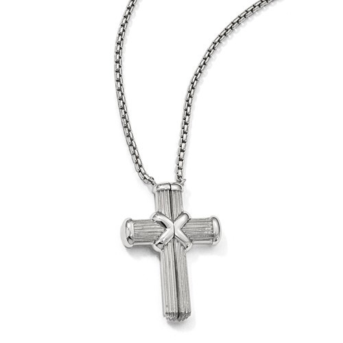 Magnetic Cross Necklace in Sterling Silver