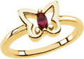 Marquise Garnet Gold Butterfly Ring