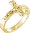 14K Gold Crucifix Ring for Men