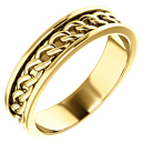 Men's 14K Gold Link Chain Design Wedding Band Ring