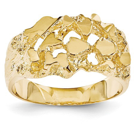 Men's Classic Nugget Ring in 14K Yellow Gold