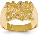 Men's Nugget Ring in 14K Yellow Gold