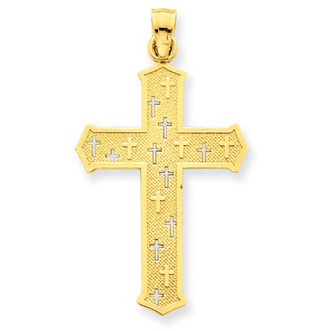 Passion Cross Pendant in 14K Yellow Gold
