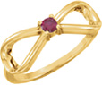 Personalized Gemstone Infinity Ring