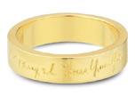 14K Yellow Gold, Personalized Handwriting Wedding Band