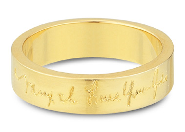 Buy 14K Yellow Gold, Personalized Handwriting Wedding Band